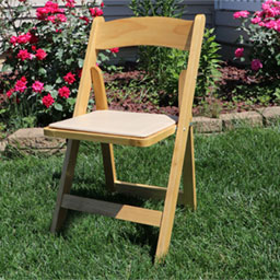 wood wedding chair