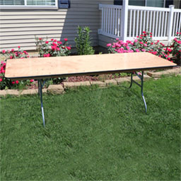 wodden 8 foot banquet tables