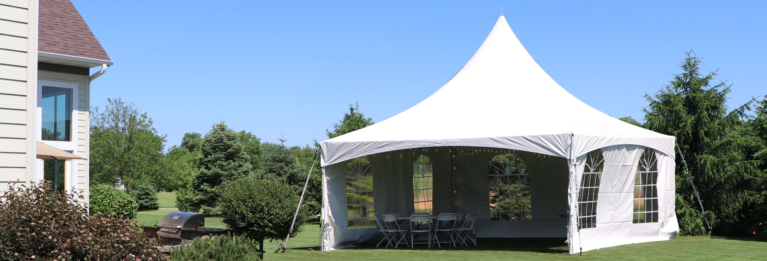 Tent in yard graduation